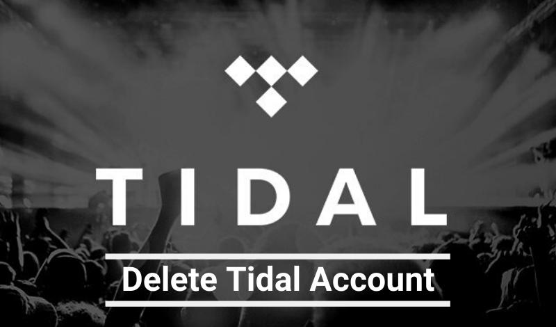 delete tidal account