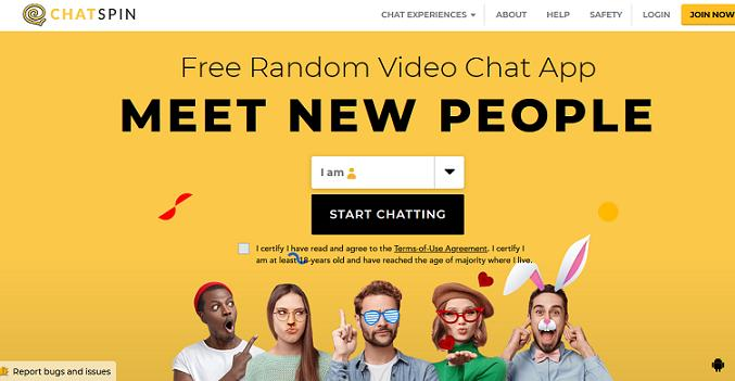 Chatspin Website