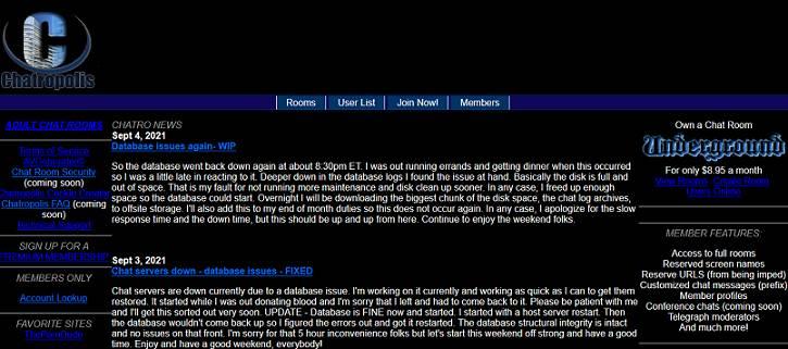 Chatropolis website