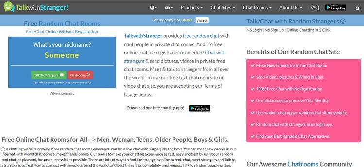 Talk With Strangers website