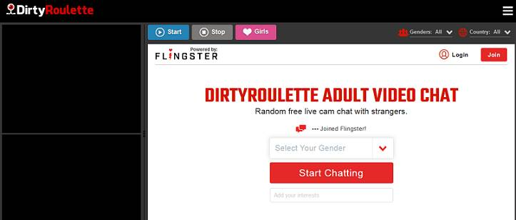Dirty Roulette website